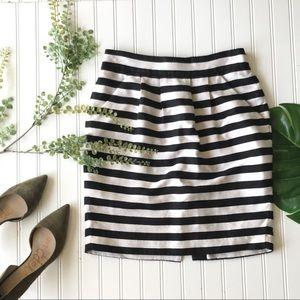 Banana republic striped pencil skirt black white